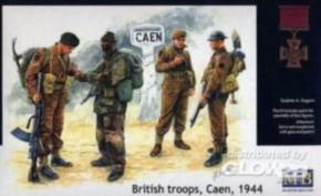 britische Fallschirmspringer, Caen, 1944
