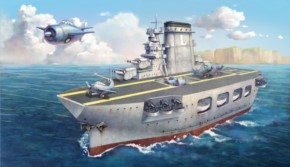 Warship Builder - Lexington, Cartoon Model