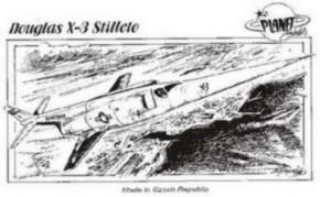 Douglas X-3 Stiletto, Resin-Modell, limitiert