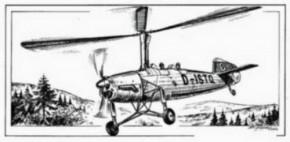 Focke-Wulf Fw 186 Autogiro, Resin-Model, lim.