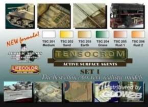 Set mit 6 Acryl-Alterungsfarben, Tensocrom TSC01