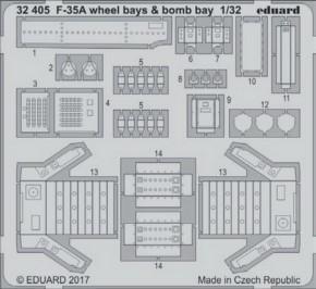 F-35A wheel bays & bomb bays, Fotoätzteile (ITA)