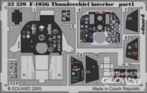 F-105G interior, Color-Fotoätzteile (TRU)