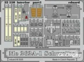 Me 262A-1 interior, Color-Fotoätzteile (TRU)
