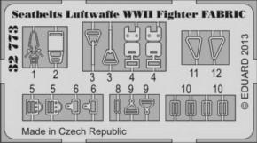 Sitzgurte Fabric WWII Fighter, Fotoätzteile