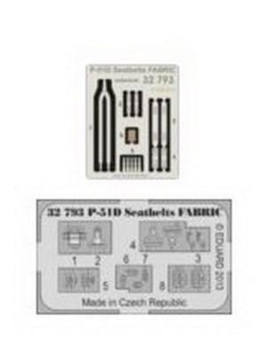 P-51D seatbelts FABRIC, Fotoätzteile (TAM)