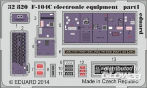 F-104C electronic equipment, Fotoätzteile (ITA)