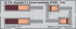 Sopwith F.1 Camel seatbelts STEEL, Fotoätzteile (WW)