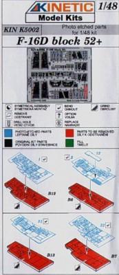 F-16D Block 52 Color-Fotoätzteile