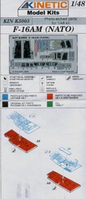 F-16AM Nato Color-Fotoätzteile