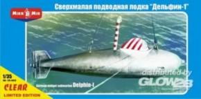 dt. Midget-Uboot Delphin-1 WWII, klar, lim.