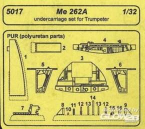 Me 262A Fahrwerk Resin Set (TRU)