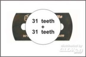 5 Sägeblätter, beidseitig grobe Zähne