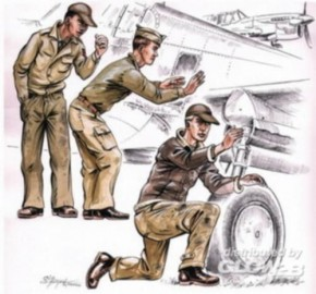 US Army mechanics WW II
