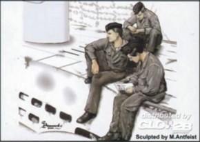 U-VII U-Boot Crew in der Pause, 3 Resin-Figuren