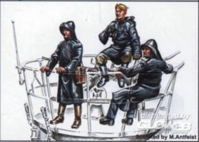 U-VII Oberdeck-Crew auf hoher See, 3 Resin-Fig.