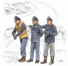 S-100 Flying Bridge Crew, 3 Resin-Figuren