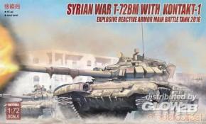 Syrian War T-72BM w. Kontakt-1 explosive reactive armor Main Battle Tank