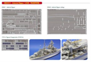 Fotoätzteilset für Admiral Hipper (TRU)