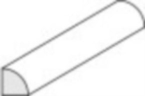 Viertelrundstange Durchm. 2,0 mm x 350 mm, 3 St